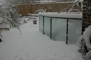 January 2010 - Heavy snow in the middle of winter.