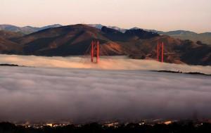 Coastal strip is often shrouded in mist.