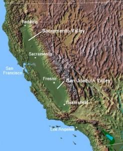 Map California Central Valley