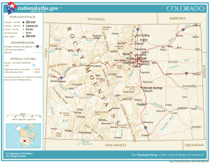 National Atlas Colorado
