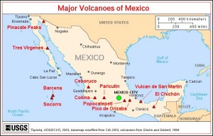 Map Mexican transvolcanic belt